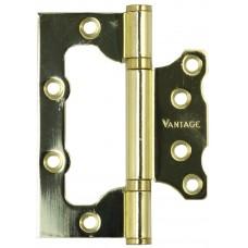 Петля неврезная Vantage 2BB 100х75 РB золото