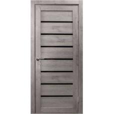 Дверь Линия ДО черн, лиственница кремовая