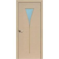 Межкомнатная ламинированная дверь Рюмка ДО, беленый дуб