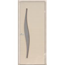 Дверь ламинированная Волна ДО, беленый дуб