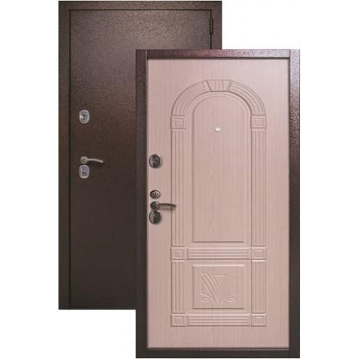 Входная дверь Страж 3D беленый дуб